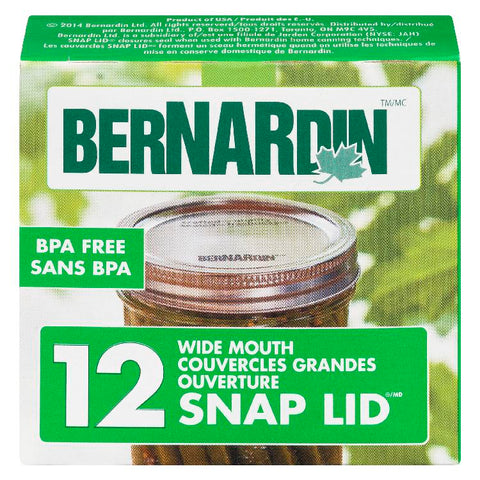 Bernardin Wide Mouth Lids Only 86mm