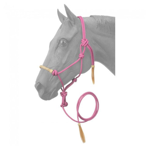 CLEARANCE-Rawhide Rope Halter w/Lead-FINAL SALE