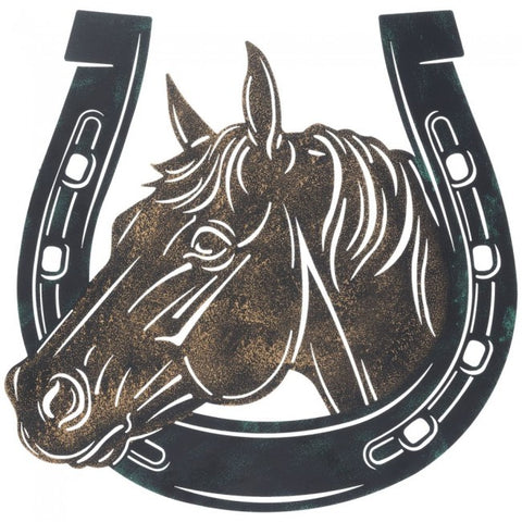 Giftware-Horse/Horseshoe Sign 13""