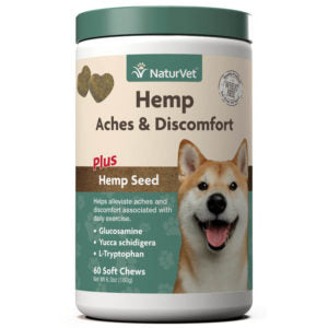 Naturvet Hemp Aches & Discomfort Soft Chews 60 count