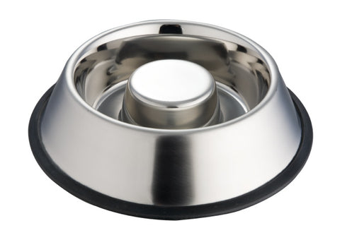 Stainless Steel Heavy Slow Feed Dog Bowl (1.33L)