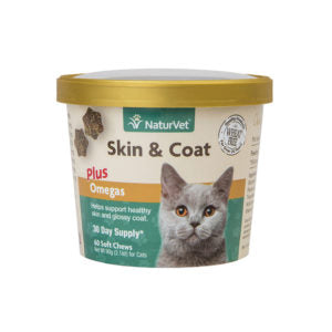Naturvet Skin & Coat CAT Soft Chews 60 count