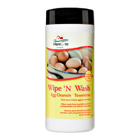 Wipe 'n Wash- Egg Cleansing Towelettes