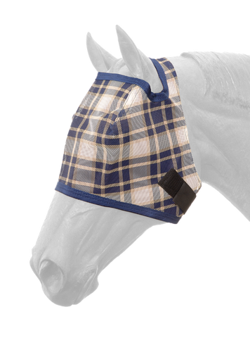 Plaid Mesh Fly Mask