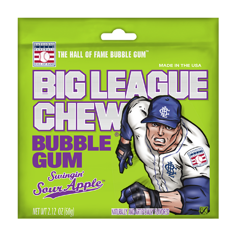 Gum- Big League Chew-Sour Apple