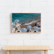 Load image into Gallery viewer, Positano Beach Umbrellas Amalfi Coast Italy Print Artwork