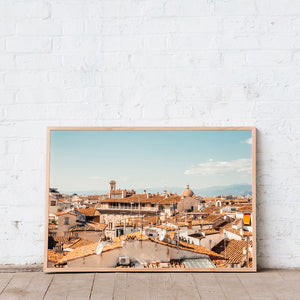 Florence Print Artwork Terracotta rooftops Italy