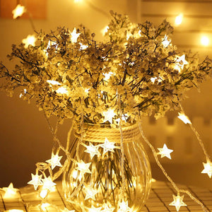 20pcs Stars Led String Christmas Light Party Decor