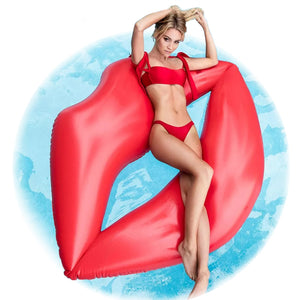 Inflatable Lips Giant Pool Float 180cm