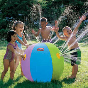 Inflatable Water Jet Ball Party Beach Toy