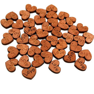 Wooden Love Heart Shapes Weeding Party Decoration
