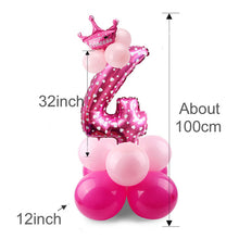 1 Set Number Balloon Birthday Party Decorations