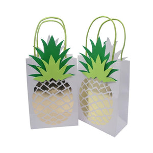 4pcs Hawaiian Pineapple Birthday Gift Bags Party Supplies