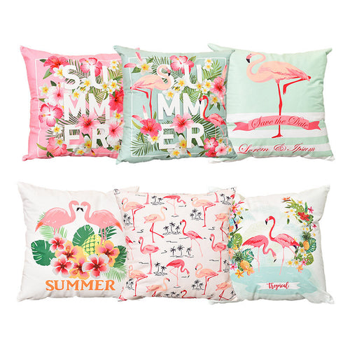 Flamingo/Pineapple Cushion Cover Party Decorative