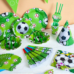 Football Theme Tableware Set Birthday Party Decoration