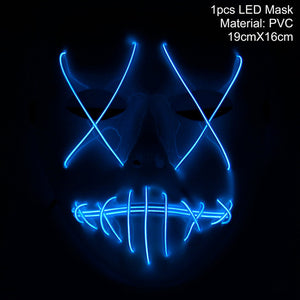 LED Light Halloween Ghost Funny Mask