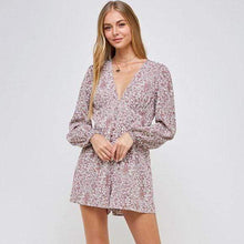 Load image into Gallery viewer, SUMMER ESCAPE FLORAL PLAYSUIT IN MAUVE