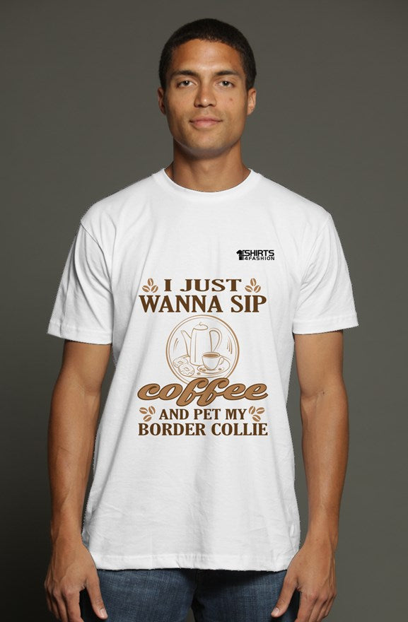 Men's t shirt - Wanna sip coffee