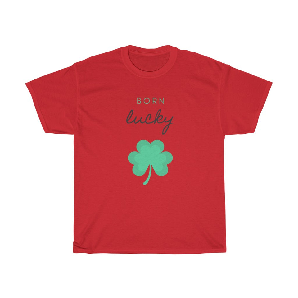 Unisex Heavy Cotton Tee - Born Lucky