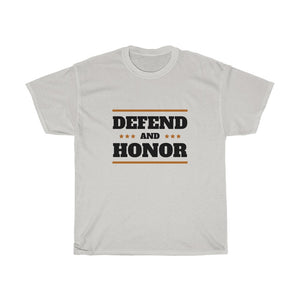 Unisex Heavy Cotton Tee - Defend And Honor