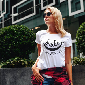 Womens Premium T-shirt - Smile