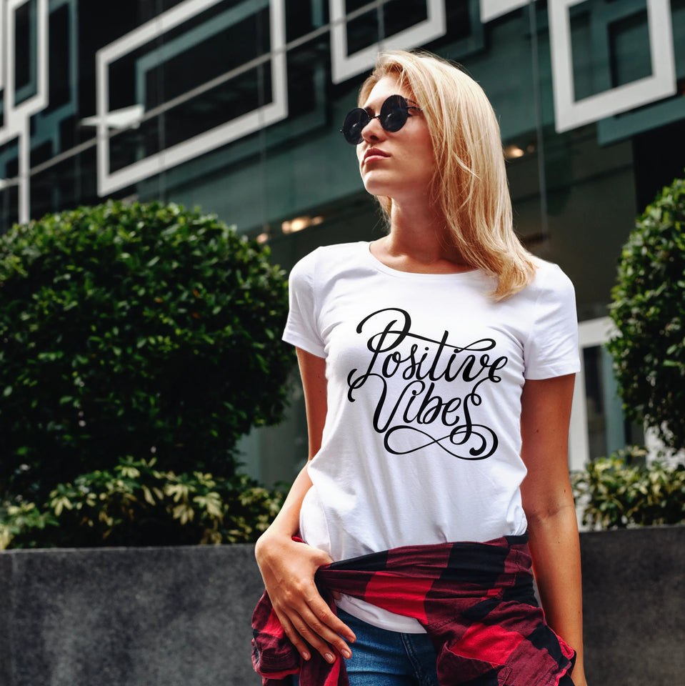 Womens Premium T-shirt - Positive Vibes