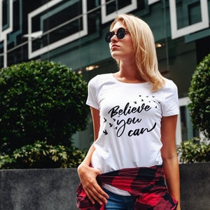 Womens Premium T-shirt - Believe You Can