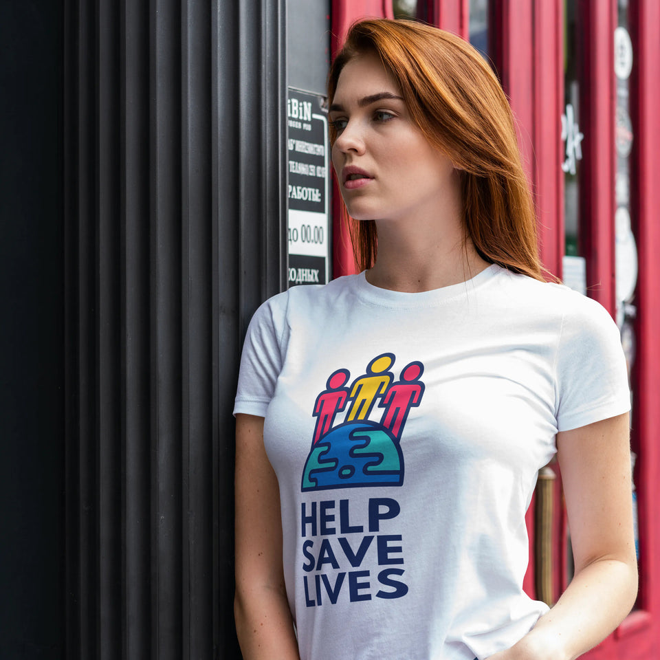 Unisex Heavy Cotton Tee - Save Lives
