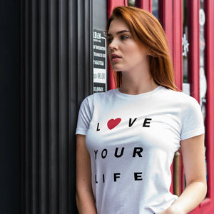 Unisex Heavy Cotton Tee - Love Your Life