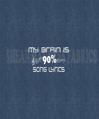 My Brain is 90% Song Lyrics - Panel