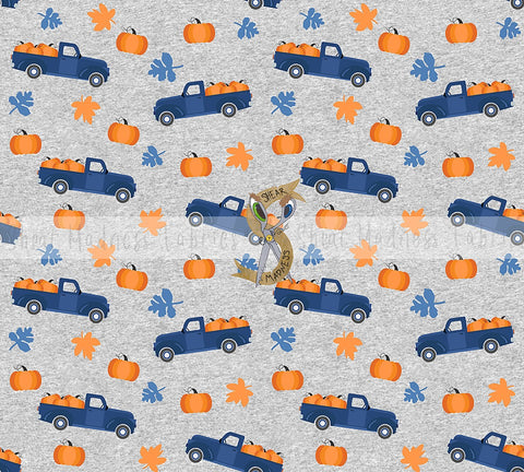 Pumpkin Truck   ** Heathered Grey