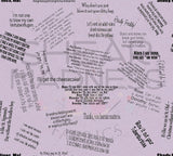 GG Quotes (Pale Purple)  ** Woven - FLAWED **