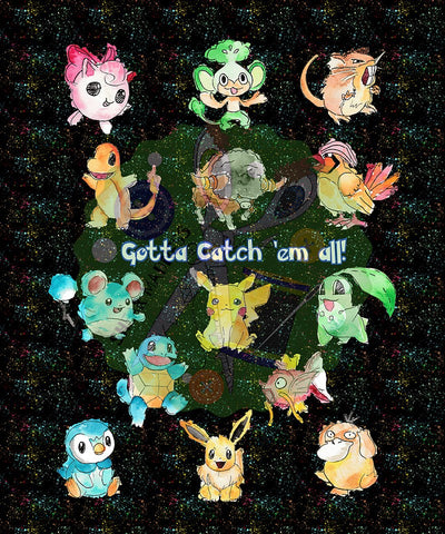 Gotta Catch 'em All  *Blanket Topper