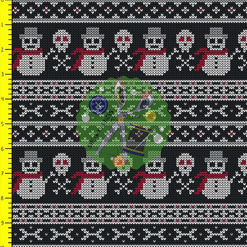 Jolly Roger Snowmen (Faux Sweater)