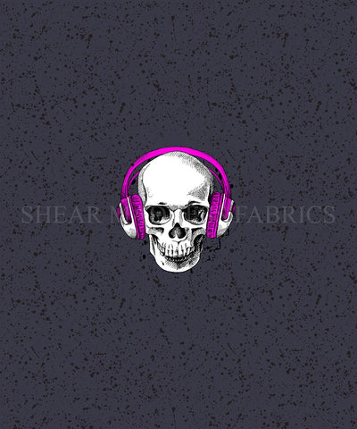 Pink Headphone Skull Panel