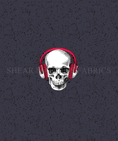 Red Headphone Skull Panel
