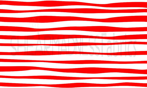 Red/White Whimsy Stripes