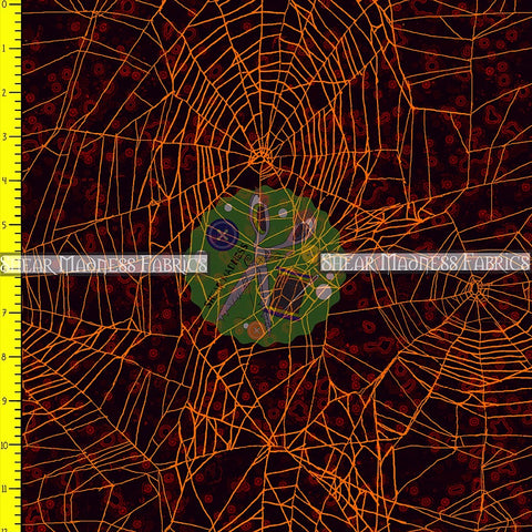 Orange Spider Webs