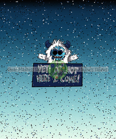 Yeti or Not (Blue Ombre)  *Panel