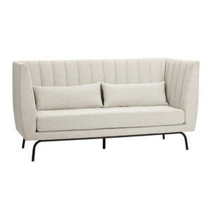 Sofa for 3 people, fabric/metal, light grey