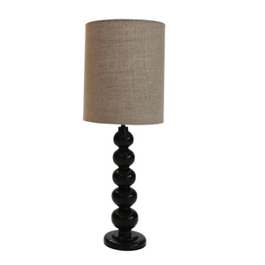 Twisted Black Wood Lamp