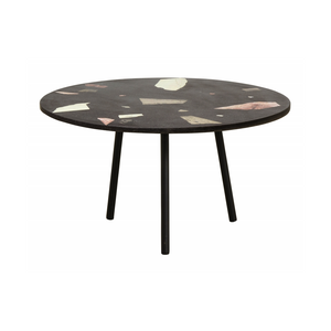 Terrazzo Coffee Table, Black W/Colours