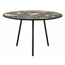 Terrazzo Dining Table, Black W/Colours