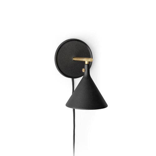 Cast Sconce Wall Lamp, BlackRAL 9005