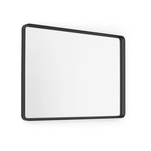 Norm Wall Mirror, Rectangular, Black