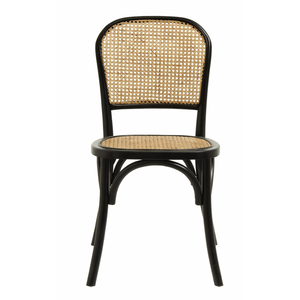 Wicky Chair W. Wickerwork, Black