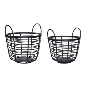 Basket, rattan set of 2