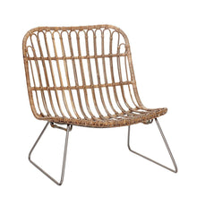 Lounge chair, rattan/nature