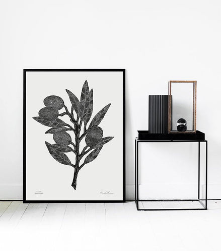 Oliver Branch Black / White - 50 x 70 cm