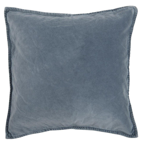 Pudebetræk velour colonial blue